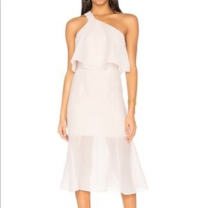NWT Keepsake L Float Midi Dress in Oyster